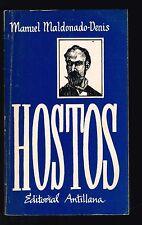 Manuel Maldonado Denis Hostos Eugenio Maria De Antologia Puerto Rico 1981 1st Ed