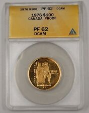 1976 Canada $100 One Hundred Dollar Gold Coin ANACS PF-62 Proof Deep Cameo DCAM