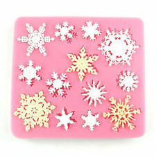 XMAS Snowflake Silicone Fondant Cake Mold Chocolate Decoration GO