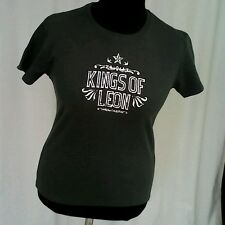 LADIES 'KINGS OF LEON' SHORT SLEEVE CREW NECK GREY T-SHIRT SIZE L