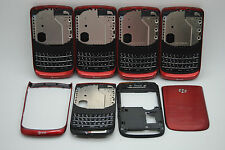 LOT of 5 OEM Blackberry torch 9800 RED 4pc back housing USED USA seller