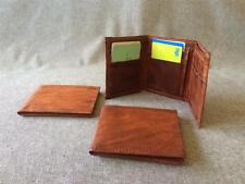 Handmade Goat Leather Trifold Wallet WM3 Men's Tri-fold Men Billy Goat Designs