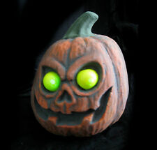 Lighted Yellow Eyes Pumpkin Scary Funny Halloween Party Haunted House Prop