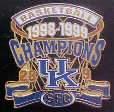 UNIVERSITY OF KENTUCKY WILDCATS 1998-99 SEC CHAMPS WILLABEE & WARD SERIES PIN