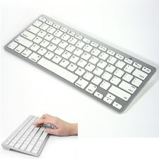 For ALL APPLE Mac iOS iPads iPhones New Slim Wireless Bluetooth Keyboard White