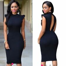 NEW Celeb Black Ruffle Sleeve Bodycon Boutique Dress Size 8-10-12-14 AVAILABLE