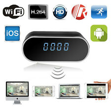 FULL HD NIGHT VISION WIFI IP SPY CLOCK CAMERA 1280 * 720p Video IOS / Android App