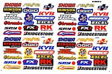 1 SHEET NEW MULTI LOGO CAR MOTOCROSS ATV ENDURO BIKE RACING DECAL STICKER SK57