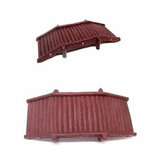 2pcs SMALL WOODEN BRIDGE 10cm (hard plastic)