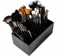 Acrylic Makeup Brush Holder | 6 Slot Makeup Organizer Storage for Cosmetics