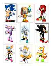 9 Sonic The Hedgehog inspired Stickers, Labels, Party Supplies, Birthday,favors