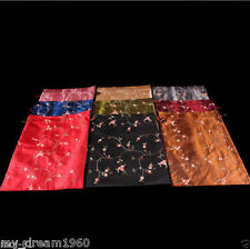 Wholesale 10pcs Mix Color Handmade Embroidered Silk Flowers Clothes Shoes Bags