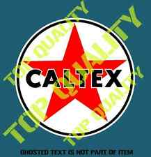 VINTAGE CALTEX GASOLINE OIL Decal Sticker Vintage Americana Hot Rod Stickers