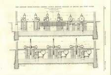 1894 Antwerp Hydroelectric Central Supply Station Sections Engine Pumphouse