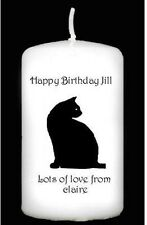 Birthday personalised candle black cat 16th 18th 21st 30th 40th 50th #5
