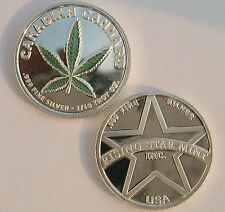 1/10th Troy Oz Pure .999 solid silver Canadian Green Leaf Cannabis Bullion Coin
