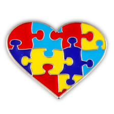 Autism Puzzle HEART Pin