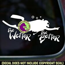 WETTER BETTER Scuba Diving Diving Diver Dive Car Window Sign Vinyl Decal Sticker