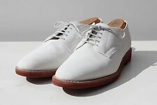 Brooks Brothers 10D Gentleman's Traditional White Bucks - USA