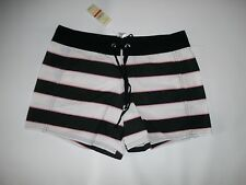 TOMMY BAHAMA Surf Rugby Stripe BOARDSHORTS Swim Shorts womens Size XS  NEW