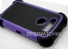 for blackberry torch 9850 / 9860 purple triple layers hard n soft robber case