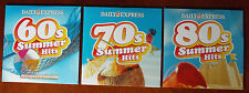 60'S/70'S/80'S SUMMER HITS  DAILY EXPRESS 3 PROMO CDS 1960s -1980s(FREE UK POST)