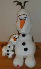 "Build a Bear Disney Frozen OLAF 17"" plush & Smaller 8"" OLAF stuffed plush"