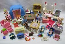 Used FISHER PRICE Loving Family Dollhouse FURNITURE & DOLLS for PLAY LOT #2