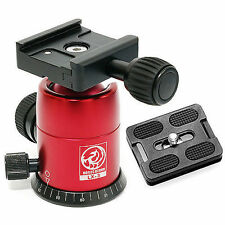 HORUSBENNU-DSLR SLR Camera Monopod Tripod Ball Head LX-3T Red w/ Dovetail Plate