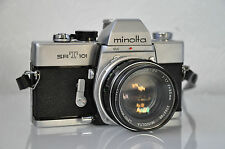 Minolta SRT101 SLR Camera + Minolta MC Rokkor-PF 1:1.7 F=55mm LensM