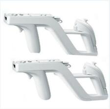 2x 2017 New Zapper Gun for Nintendo Wii Remote Wiimote Controller White