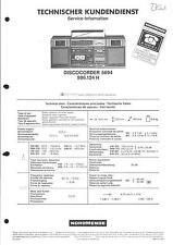 Nordmende Original Service Manual für  Discocorder 5694