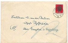 P315 1945 Germany WW2 Provisional ANTI-NAZI *Hitler Head*OBLITERATED Stamp Cover