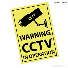 10 X Warning CCTV in Operation -Premises Security Window Printed Stickers Signs