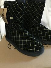Womens Ukala Sydney Belinda Low Black Boot Size 7