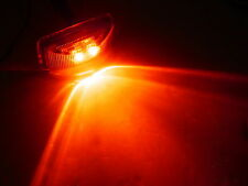 Red LED Snap in Trailer Marker Light 1.2 x 2.5 Truck Camper Rice
