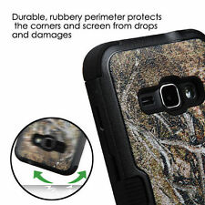 FOR SAMSUNG Galaxy J1 2016 PHONE BLACK VINE DESIGN HYBRID TUFF SKIN COVER CASE