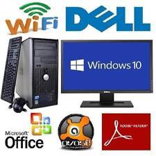 "Lightning Fast 22"" Wide-screen LCD Windows 10 Pro Desktop PC Computer 8Gb 500Gb"