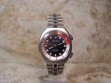 1971 Bulova Super-Compressor 17 Jewel 7EFACD RED WHITE & BLUE (Pepsi) Dial 666ft
