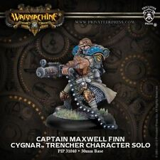 Warmachine: Cygnar Captain Maxwell Finn Trencher Character Solo PIP 31040 NEW