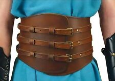 Roman Kidney Leather Belt, Assassins Creed, Gladiator, Medieval, LARP, COSPLAY