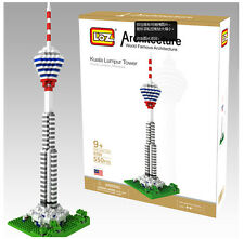 LOZ World Architecture Kuala Lumpur Tower Model Malaysia Building Blocks Toy G8