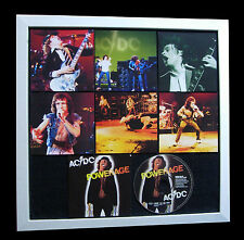 AC/DC+Powerage+LIMITED+GALLERY QUALITY+FRAMED+EXPRESS GLOBAL SHIPPING+Not Signed