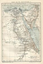 B0008 Antico Egitto - Carta geografica antica del 1901 - Antique Map