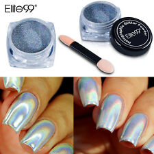 1g Holographic Rainbow Laser Powder Elite99 Nail Art DIY Sponge Stick Manicure