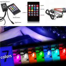 4x12 LED Multi Color Car Interior Floor Decor Lights Neon Lamps Wireless Remote