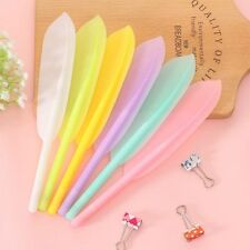 2PC Novelty CANDY COLORS feather Ball Point Ballpoint Pen Office Stationery US