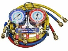 "YELLOW JACKET 42205 Manifold 3-1/8"" Gauges 60"" HOSES psi, R22/134a/404A, °F"
