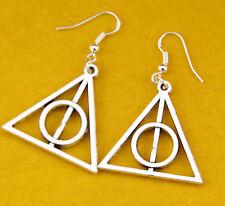 1 Coppia Alla Moda Fantastico Harry Potter I Doni Della Morte Ciondolo orecchino