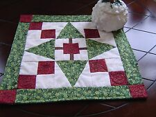 O Christmas Tree Table Mat, approximately 15 inches square. Made in U.S.A.